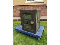 Vintage cast iron safe