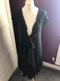 JAEGER black dress - tie front size 10/12