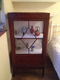 Edwardian Display Cabinet with Inlays