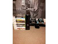 Xbox 360 2 controllers, 16 games, kinect