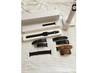 Apple watch 42mm loads of extras straps, stand, original box etc