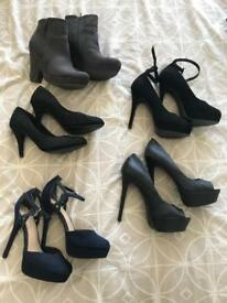 Shoes/heels 5 pairs - size 6/39
