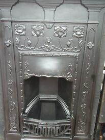 Bedroom Fire Cast Iron Art Deco Combination