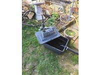 Fish pond with powerful pump, filter box, hoses, plus 15 goldfish