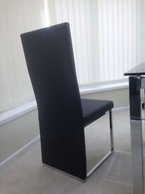 Dining Table with 6 leather chairs, Never used