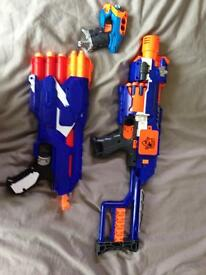 Nerf Stockade, Dual-strike and small dart tag pistol.
