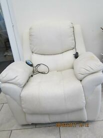 Reclining Armchair. Mechanical action, with electric massage& heater.