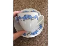Blue vintage tea set
