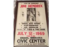 Original Jimi Hendrix concert poster