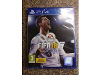 FIFA 18 PlayStation 4 PS4 Game *Brand New & Factory Sealed*