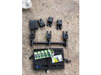 3 atts bite alarms and attx receiver all blue