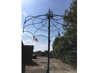 Ornamemental decorative climbing frame wrought iron