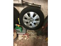 4 Audi A3 alloys 16inch with brand new tyres