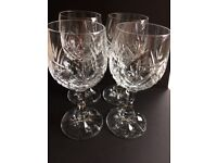 Crystal Red Wine Glasses x 4