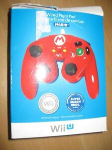 PDP Wired Fight Pad / Game Pad for Wii / Wii U. Mario.  Link. NEW