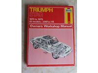 Haynes Manual - Triumph Stag 1970 to 1978