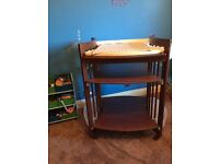 Stokke Walnut changing table in excellent condition