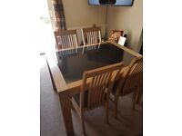 Glass Top Table and 4 x Chairs Excellent Condition