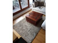 Solid wooden opening chest coffee table - rug also available