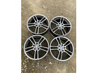 """Genuine BMW Style 261 M 18"""" Staggered Alloy Wheels Anthracite Grey 1 Series 3 4"""