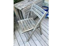 Habitat Zeno large folding table and 4 chairs - table needs attention