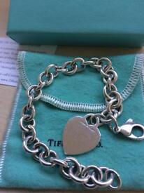 Solid genuine Tiffany bracelet. Very heavy solid silver