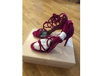 Fuchsia suede Next Heels in size 6. New with a box