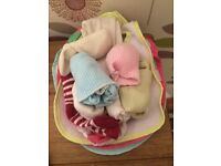 Bag of baby girl items
