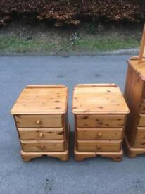 Pair of Westminster Pine bedside chests * free furniture delivery *