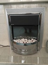 Chrome effect electric fire.