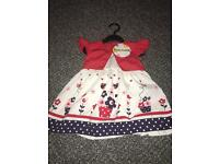 Baby girls floral dress 6-9 mths.