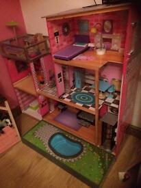 Kids barbie house