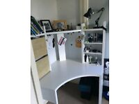 IKEA White Corner Desk - Micke
