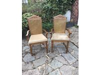 Carver wooden dining chairs (2)