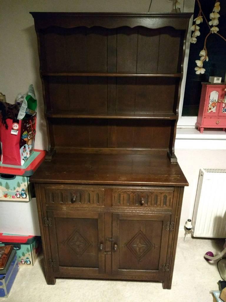 Dark Wood Vintage Welsh Dresser In Lennoxtown Glasgow Gumtree