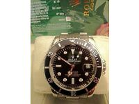 Brand New Silver Rolex Submarina with Black Face