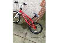 It's a diamond back viper bmx it's fast and it's red and white it has a few scratches