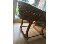 Mothercare Moses Basket with rocking stand - Good Condition
