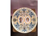 Coalport bone china commemorative Charles & Diana Wedding Plate - limited edition No. 982 of 2000