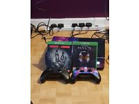 Xbox one 1tb with 2 games and 2 pads