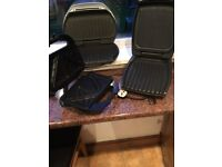 2 George Forman grills and toasty maker