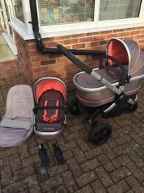 I Candy Peach All Terrain with Carrycot