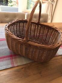 Wicker shopping basket perfect