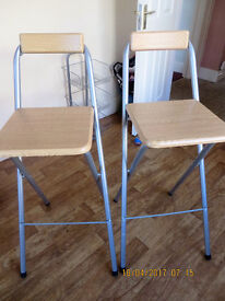 STOOLS WITH BACK REST (TWO)
