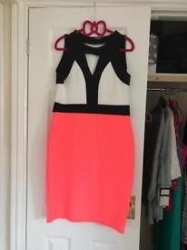 Quiz white black pink dress
