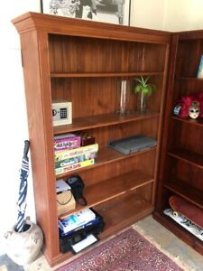 Pair of wooden bookcases