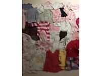 Baby girls clothes bundle 0-3 first size new born