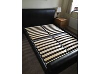 Dreams leather-look double bed