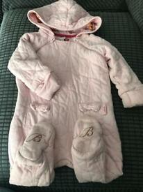 Ted baker bow detail snowsuit pramsuit