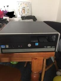 Computer case with power supply & hard drove